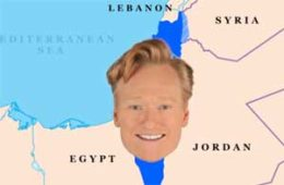 Conan O'Brien history lesson on Israel