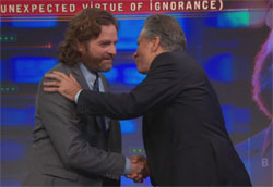Zach Galifianakis and jon stewart