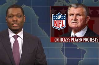 SNL Weekend Update, Don't give Mike Ditka a gun, Oct 14 2017