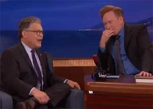 Conan, Al Frankin dehumorizing the Sentate until he called Scalia Gay