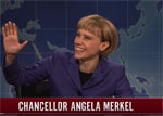 SNL Weekend Update, Kate McKinnon does Angela Merkel