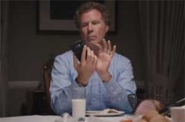 Will Ferrell's dinner with his phone and family present