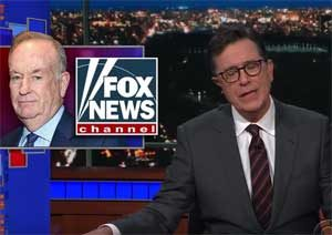Stephen Colbert, Bill O'Reilly blames God for his sexual harassment troubles