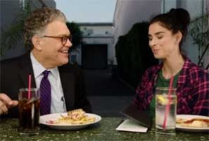 Sarah Silverman buys Al Franken lunch, I love you