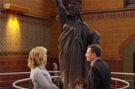 Chelsea Handler learns a replica of the Statue of Liberty is in Trump Tower