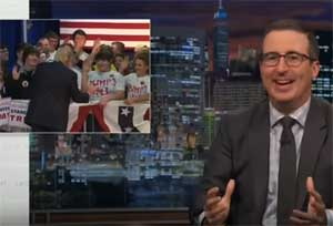 John Oliver, Trump will beat Opiods with JUST SAY NO advertising