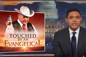 Trevor Noah, Touched by and Evangelical, a Roy Moore Mall story