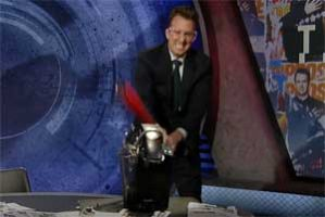 Jordan Klepper takes a Sean Hannity bat to the Keurig coffee maker