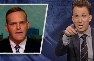 Jordan Klepper, Roy Moore's lawyer and spokesman Trenton Garmon is a piece of sh*t