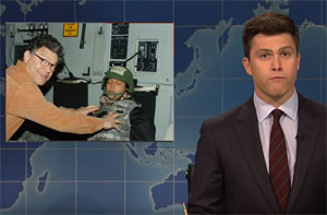 SNL Weekend Update, kicks Al Franken in the behind