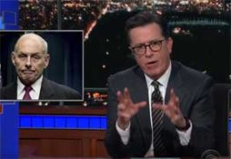 Stephen Colbert Lectures Trump Lackey General Kelly on the Civil War