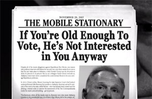 Stephen Colbert, Roy Moore Alabama Newspaper Headlines!
