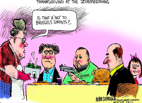 george zimmerman thanksgiving