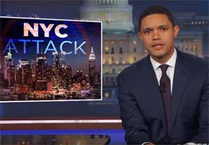Trevor Noah, politicizing terrorism only wrong for white men with guns