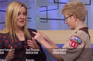 Samantha Bee awards Free Speech hero Boy Scout Ames Mayfield