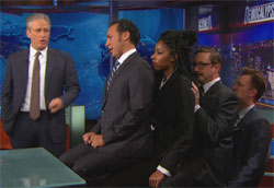 Daily Show Stack review the election
