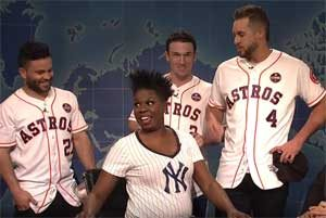 SNL Weekend Update, Yankee fan Leslie Jones meets the Astros