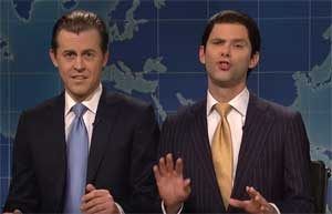 SNL Weekend Update, Eric and Trump Jr, no one knew Paul Manafort
