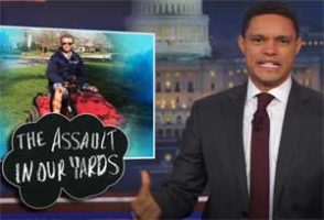 Trevor Noah, Senator Rand Paul attacked on his riding mower