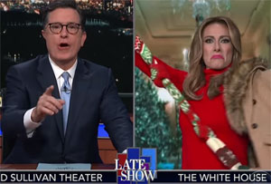 Stephen Colbert, Melania's Christmas escape plan