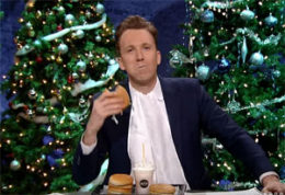 Jordan Klepper eats a typical Trump #Magamealchallenge while discussing Jerusalem