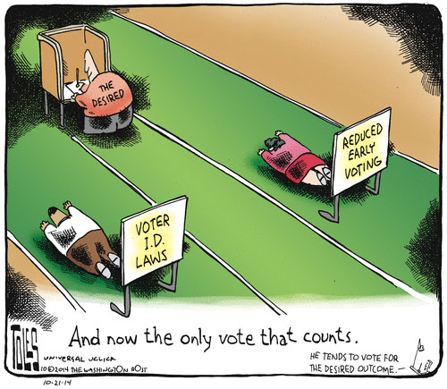 Voter suppression argument