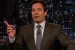 Jimmy Fallon as Mitt Romney, in with it cool vlog blog relates to young voters, with sexy lady, Ann.