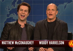 Woody Harrelson and Matthew McConaughey SNL