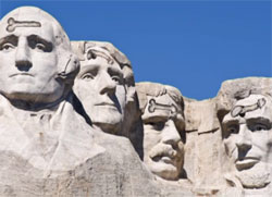 Carving dicks on Mount Rushmore