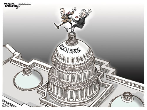 Koch brothers dance the Capitol Jig