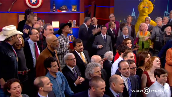 stephen colbert finale celebrity list