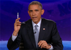 President Obama does the Colbert Report