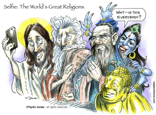 All the GREAT religions selfie