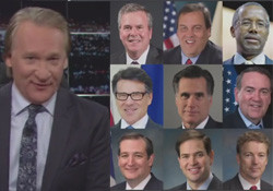 Bill Maher new rules gop candidates 2016