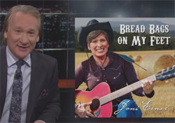 Joni Ernst, sings breadbags on my feet