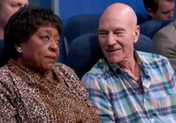 The Most Annoying People on the Plane Sir Patrick Stewart Jimmy Kimmel