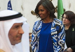 I Agree With Ted Cruz! Michelle Obama Scarf-less in Saudi Arabia