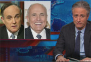 Jon stewart tells Rudy Giuliani to shut up