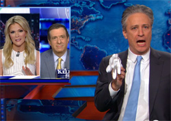 Jon Stewart calls out Megyn kelly for a duel