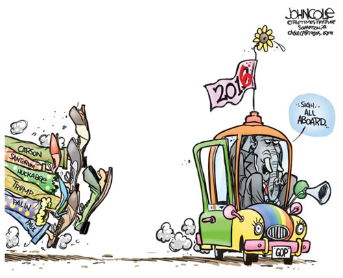 All Aboard the GOP primary clown car