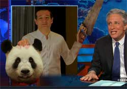 Ted Cruz beheads panda bear