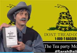 Dick Johnson how to be a tea bagger troll