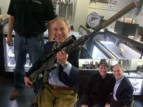 Greg Abbott and Ted Nugent big gun