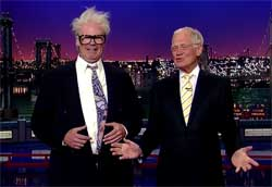 Harry Caray goodbye to dave letterman
