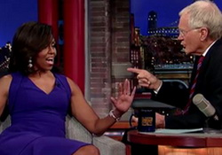 David Letterman: Michelle Obama Plans Presidential Run