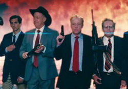 Parody of Congressional Reaction to Iran Deal: The Expendables, Funny or Die Video