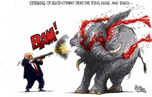 Trophy Hunter Donald Trump bags and Elephant