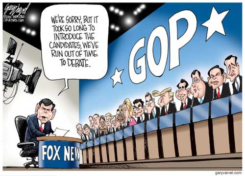 Fox News Bret Baier welcomes you to the Republican Presidential Debates