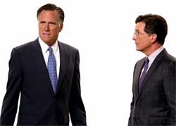 Stephen Colbert has no pancakes for Mitt Romney