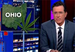 Ohio to Legalize Pot, Stephen Colbert